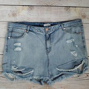 Refuge Distressed Shorts